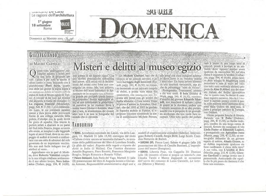 Mauro Castelli, Sole24ORE, 29 maggio 2005