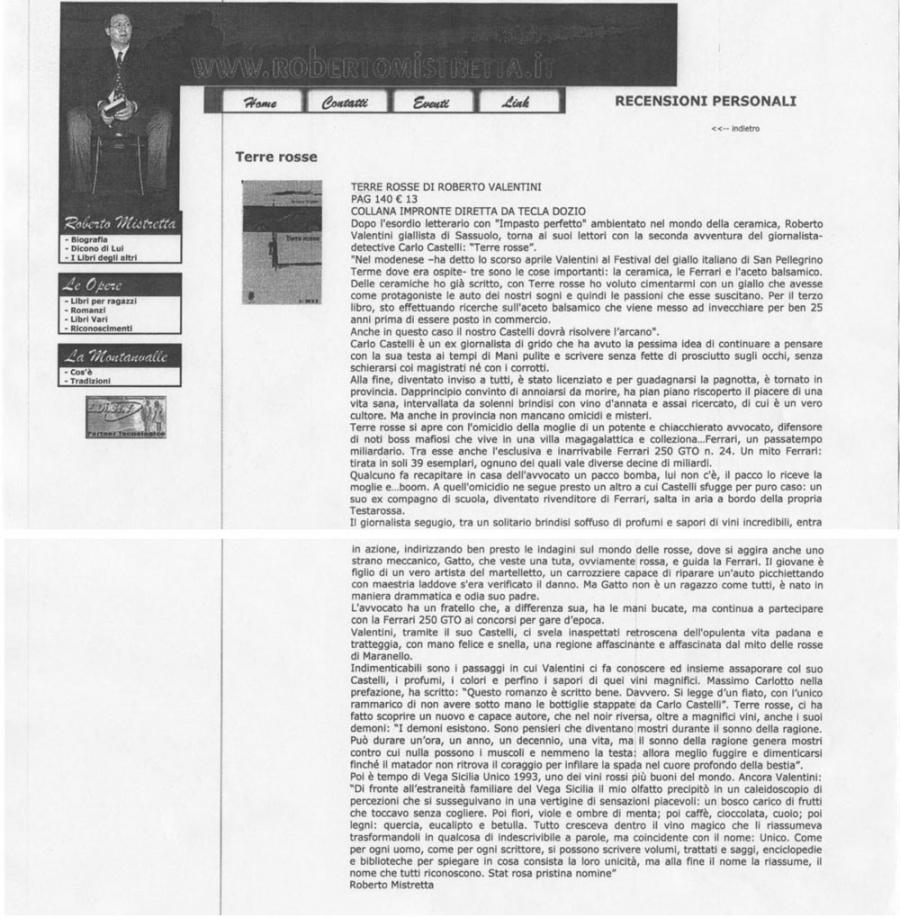 Roberto Mistretta, www.robertomistretta.it, 30 marzo 2005