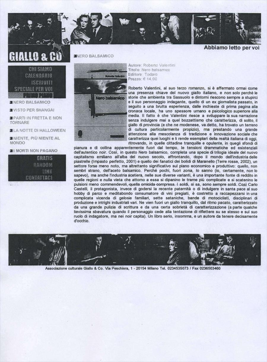 Carlo Oliva, www.giallo&co.com, 1 giugno 2005