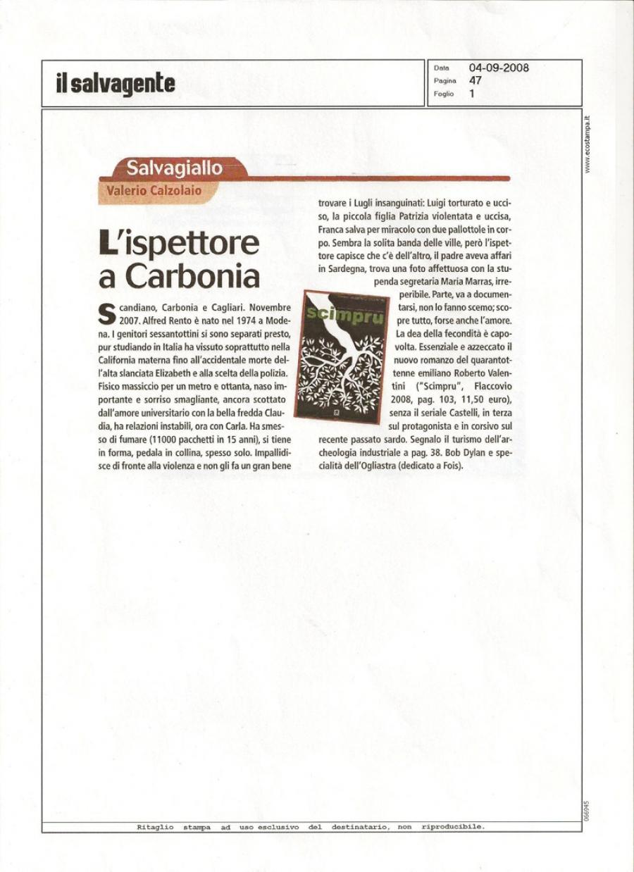 Valerio Calzolaio, www.ilsalvagente.it, 4 settembre 2008